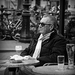 Relax (Iam Marjon Bleeker) Tags: holland coffee amsterdam spring terrace terras springinamsterdam onthecanals irischcoffee maninamsterdam ans2013248vzw hoekprinsengrachtspiegelgracht