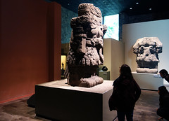 Coatlicue with viewers, c. 1500, Mexica (Aztec)