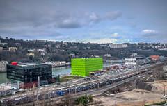 Lyon - Quai Rambaud (SSO11) Tags: lyon pentax trains quai hdr confluence tiltshift euronews k30 rambaud