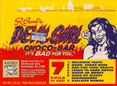 R. Crumb's Devil Girl Choco-Bar Wrapper (Donald Deveau) Tags: chocolate wrapper robertcrumb kitchensink devilgirl chocobar