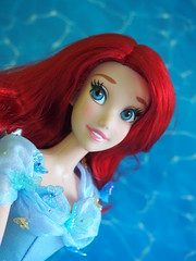 Disney Ariel meets Cinderella (sh0pi) Tags: blue ariel james la inch doll lily dress singing little action live disney le 17 cinderella gown mermaid limited edition disneystore puppe arielle kleine meerjungfrau singende singend