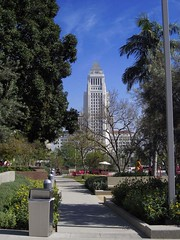 City Hall Seen From a Different Path (Robb Wilson) Tags: losangeles downtownla grandpark lacityhall
