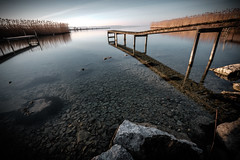 ...Stoned... (7H3M4R713N) Tags: longexposure morning lake sunrise switzerland suisse swiss earlymorning lac 1000 neuchtel longexpo sunriselight 1024mm lakeofneuchatel ifttt fujinon1024mm
