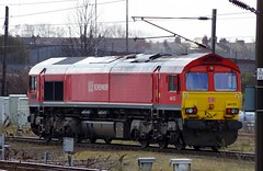 "66152 ""David Holmes - Railway Operator"" - Doncaster Station - 25-03-15 (techno-phobe) Tags: shed dbs doncaster eastcoastmainline class66 ecml doncasterstation 66152 dbschenker davidholmesrailwayoperator"