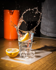 Lemon with that? (phillconnellphotos) Tags: orange water speed march droplets high lemon flash jug splash highspeed 2015 rdcc march2015