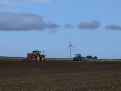 Farming in Aberdeenshire, Scotland (laura.piepad) Tags: tractor rural aberdeenshire farm farming farmland turbine windturbine ruralaberdeenshire