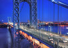 The George Washington Bridge (mudpig) Tags: newyorkcity bridge newyork night newjersey gothamist hdr georgewashingtonbridge mudpig