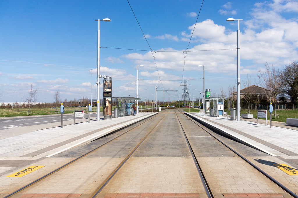 LUAS TRAM STOP IN CITYWEST [APRIL 2015] REF-103241