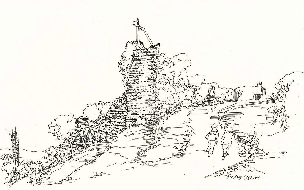 Ruines du Vieux Village - La Croix