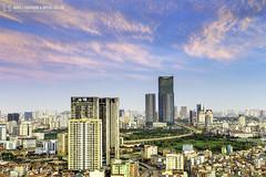 vl_04001 (Hanoi's Panorama & Skyline Gallery) Tags: city sunset sky panorama lake building skyline architecture skyscraper canon asian eos asia downtown capital skylines landmark vietnam architect hanoi asean appartment lotte việtnam hànội skyscrapercity badinh cầugiấy caoốc bađình keangnamlandmark