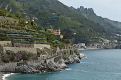 Maiori, Amalfi Coast, Italy (Boganeer) Tags: italy seascape canon italia amalficoast seashore tyrrheniansea maiori canont3i