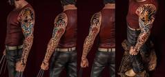 Lobezno con tatuaje - Tatuaje desde distintos ángulos (dsc828) Tags: tatoo wolverine tatuaje figura lobezno strobist pintadoamano