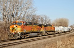 BNSF 5678 West in St. Paul, Minnesota on March 28,2015.