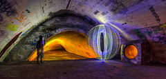 Tunnel Vision (solidtext) Tags: lightpainting long exposure clown orb tunnel nikond7000