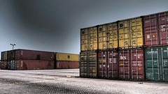 Container on container yard (baiquni) Tags: container shipping containeryard