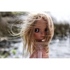 Blowing in the wind... #Tiina #echo #Blythe #fab_toys #HOP #customblythe #toyartistry #dollstagram # doll photography #bigeyes #love