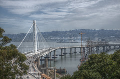 Out with the Old, In with the New (Foto_therapy) Tags: island landscapes san francisco treasure baybridge bayarea hdr