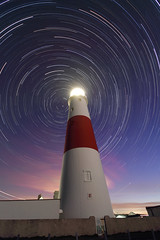 Portland Bill Star Trails (mpelleymounter) Tags: longexposure lighthouse lightpainting dorset april nightsky lighttrails trinityhouse startrails portlandbill dorsetcoast starmovement dorsetlandscape earthrotations