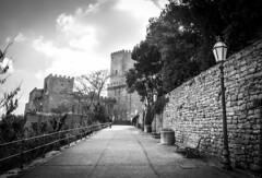 Castello di Venere (Rigby91) Tags: street light blackandwhite italy view sicily castello castel trapani