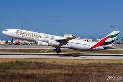 Emirates --- Airbus A340-300 --- A6-ERP (Drinu C) Tags: plane aircraft aviation sony emirates airbus dsc a340 mla a340300 a6erp lmml hx100v adrianciliaphotography
