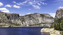 Hetch Hetchy Reservoir, Yosemite National Park (punahou77) Tags: california trees sky mountain lake mountains nature water clouds landscape waterfall nationalpark roadtrip pines valley yosemite vista yosemitenationalpark sierras sierranevada resevoir yosemitevalley hetchhetchy tueeulalafalls wapamafalls stevejordan hetchhetchyreservoir tuolomneriver nikond7100