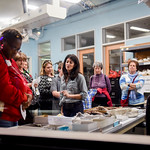 Lindsay Zanno leads a tour of her paleontology lab