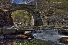 acqua (sanino fabrizio) Tags: water stone canon italia fiume ponte pietre 1855 acqua ruscello biella pietra hdr paesaggio santuario prospettiva storia oropa 550d