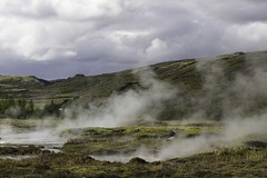 Vapeurs et fumeroles (steams and fumaroles) (Larch) Tags: sky cloud water landscape iceland scenery steam ciel nuage geysir islande fumarole vapeur volcanism volcanisme fumerole volcanicactivity activitvolcanique