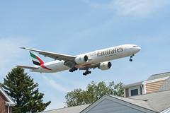 IMG_2589 (wmcgauran) Tags: boston airplane airport aircraft aviation emirates boeing bos 777 eastboston kbos a6ecp