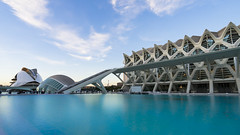 Futuristic (BoXed_FisH) Tags: travel water valencia architecture modern spain europe sony wideangle bluesky es archtitecture valncia comunidadvalenciana cityofartsandsciences placesofinterest ciutatdelesartsilescincies sonyalpha sonyzeiss zeiss1635 sonya7 sel1635z sony1635mmvariotessartfef4zaoss sonyzeiss1635f4oss contempalary