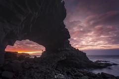 into the hollow (Gustavo Tavo) Tags: longexposure canon la landscapes seascapes tenerife 5d oceans canaryislands negra seas cueva seleccionar gustavotavo