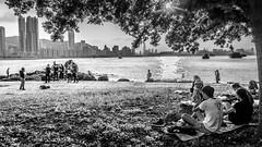 A Day by the Sea (Calvin Lee a.k.a calvin83) Tags: bw blackandwhite city people sea shore street sunday urban