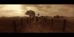 country roads... (AlienmausAllen) Tags: ranch farm sl secondlife cowgirl alienmausallen