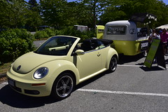 Chouchou VW and food cart (D70) Tags: new travel food canada west vw vancouver volkswagen community day bc beetle convertible converted trailer cart chouchou cabriolet creperie boler