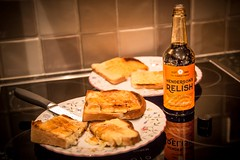 Cheese on toast (deltic17) Tags: cheese bread toast relish snack melted bosch hendersons hendersonsrelish