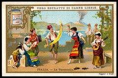 Liebig Tradecard S620 - National Dances, Italy (cigcardpix) Tags: tradecards advertising ephemera vintage liebig chromo dancing