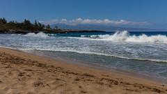 West coast of Maui looking at Kapalua golf course (f_desmet) Tags: ocean clouds hawaii waves maui golfcourse kapalua