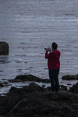 Islay 2016 2 (27) (Yorkshire Reckless & Proud) Tags: blue shadow sea people musician cloud sun lighthouse black bird beach birds silhouette vw landscape scotland boat ship harbour cottage sails tent islay seal duster van camper distillery orsay bowmore bruichladdich dacia