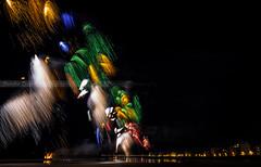 FIREWORKS (SANDIE BESSO) Tags: feudartifices fireworks light lightpainting longexposure longshot expositionlongue darklong nd09 littlestopper bigstopper lee 5dm3 1635mm panorama view vieuxport pier colors colorful multicolor multiexposure sandiebesso sandiebessophotography fineart night nightphotography bulb saintmalo bretagne britanny france 14072016 lesillon plage beach rempart fortnational plagedelventail chaussedusillon