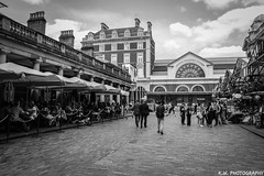 Covent Garden (Kieran Williams Photography) Tags: life camera city light shadow portrait sky people blackandwhite white abstract black cold color colour london colors monochrome lines silhouette skyline architecture composition contrast speed canon lens landscape person photography lights photo pattern colours view angle outdoor low perspective like shutter gradient priority viewpoint comment saturate leadinglines