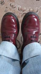 DSCF9610 (rugby#9) Tags: original feet yellow cherry boot shoe hole boots lace dr air 14 7 indoor icon wear size jeans footwear levi stitching comfort sole doc levis 1914 cushion soles dm docs eyelets drmartens bouncing airwair docmartens 501 martens dms 501s cushioned wair levi501s doctormarten 14hole yellowstitching