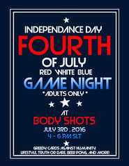 .::Body Shots::. 4th of July Game Night (AddisonLynnRose Resident) Tags: second life sl virtual body shots nightclub nightlife event events 4th july game night club greedy truth or dare beer pong lifestyles cards against humanity games party dj music