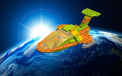 Lemon Orange Lime In Space - In Space (cruzen19501) Tags: lego lol space spaceship spacecraft