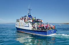 One of the boats ferrying tourists (Jonathan Palfrey) Tags: photo digital photomatix exposurefusion landscape boat sea aranislands galway connacht ireland