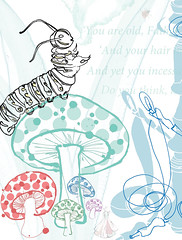 'The Contradicting Caterpillar' (emmajanerobinsonillustration) Tags: illustration childrensillustration aliceinwonderland alicesadventuresinwonderland ink contemporaryillustration drawing