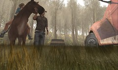 Coming home (Ryanna Foxclaw) Tags: farm avatar secondlife expression virtual people