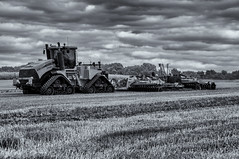 Now that's a tractor! (David Feuerhelm) Tags: machinery tractor cultivations nikkor farming monochrome blackandwhite bw essex sky clouds contrast nikon d90 infrared h