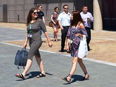 Nipping Out For Lunch (marbowd37) Tags: streetphotography salfordquays salford street mediacity people girl