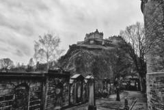 Edinburgh Castle revisited (theoldsmithy) Tags: castle edinburgh brooding gloomy conversion hill churchyard