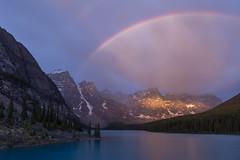 Moraine Bow ... Cleaner (ken.krach (kjkmep)) Tags: lakemoraine rainbow